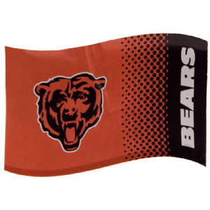 Chicago Bears Large NFL Logo Fade Flag (bst)